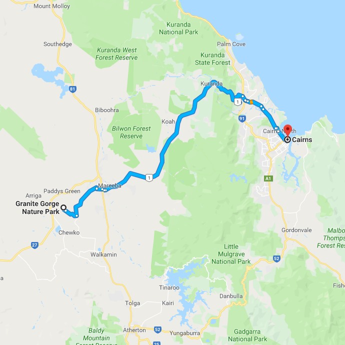 Kuranda and Mareeba Road Trip