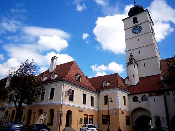 The Lesser Square in Sibiu, Romania
