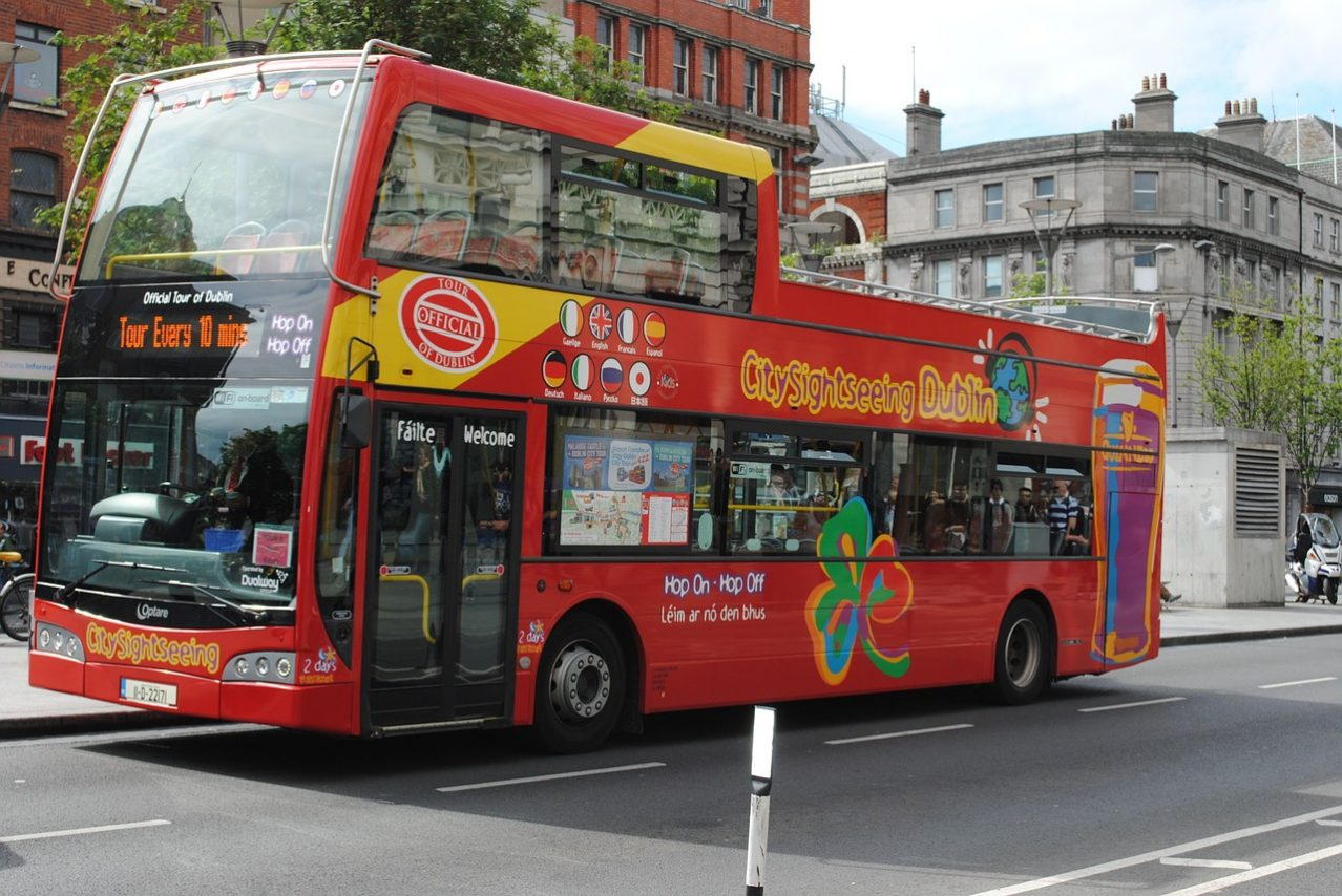 "The ""Hop On Hop Off"" Red Bus, London"