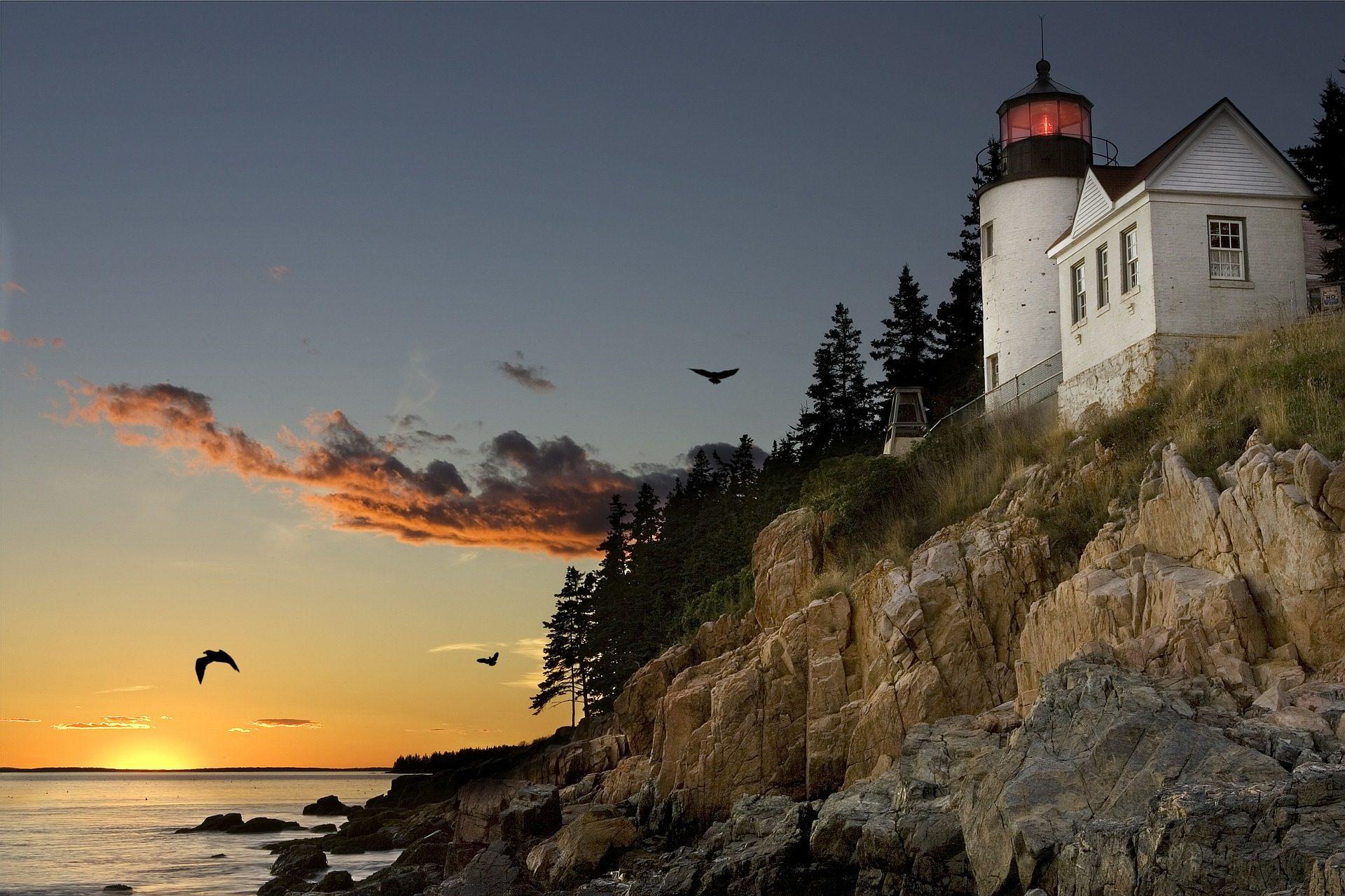 Bar Harbor in Maine, USA