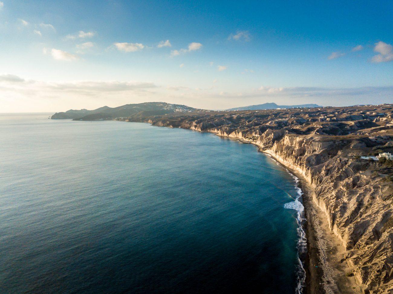 A beach in Santorini