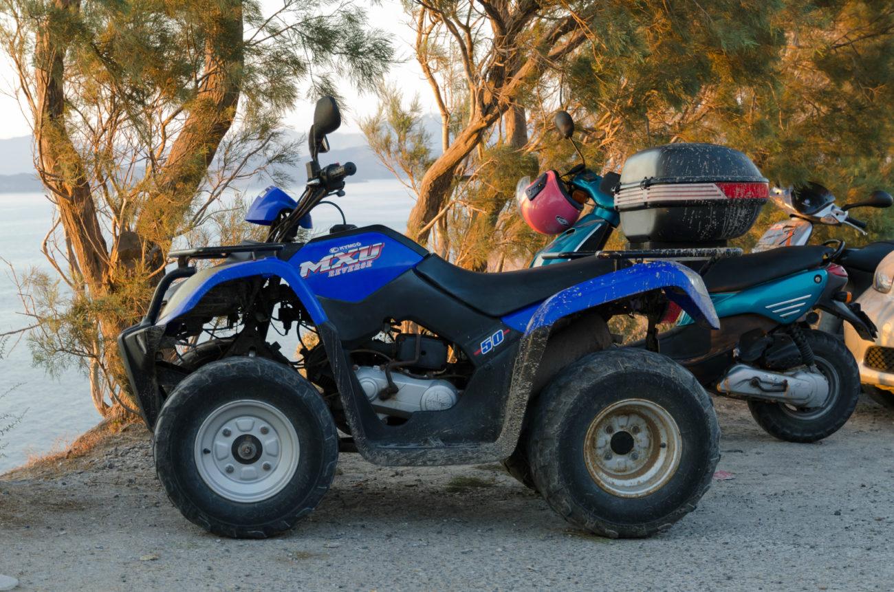 ATVing in Santorini