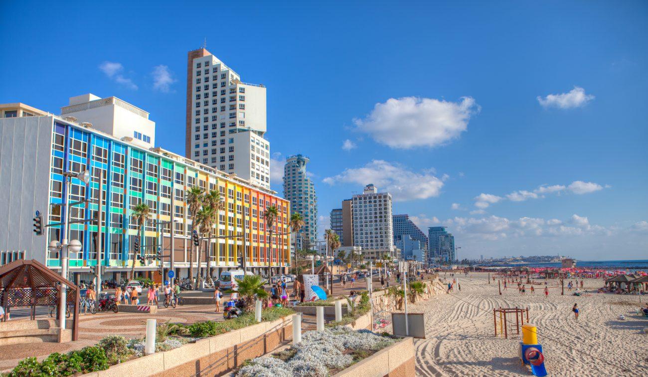 Gordon Beach on Tel Aviv Promenade