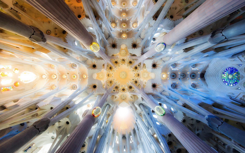 The Ceiling Of Sagrada Familia