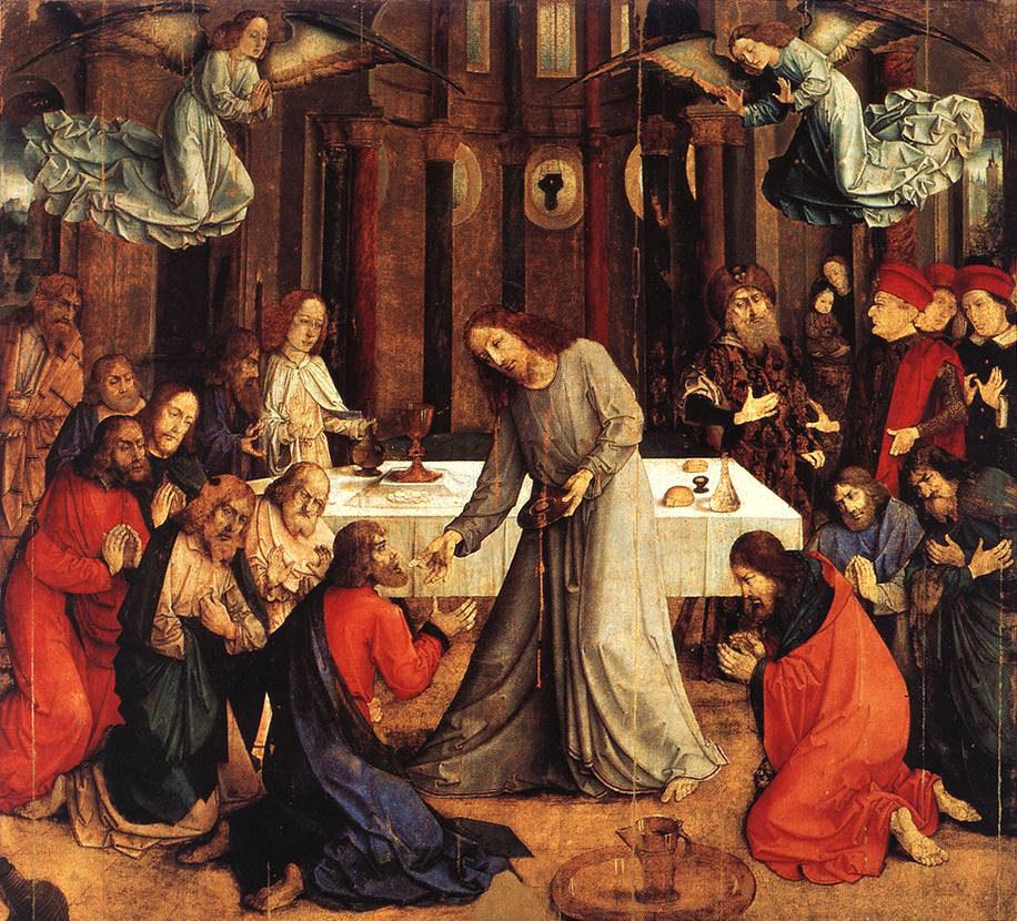 The Institution of the Eucharist, Justus van Gent