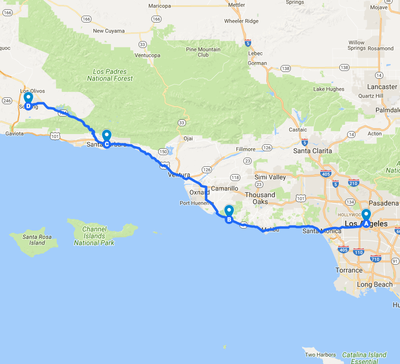 The California Coast Road Trip