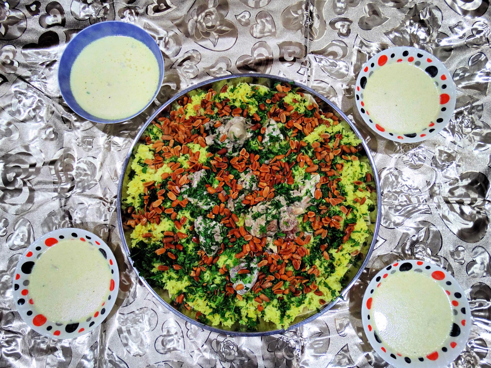 Mansaf, a traditional Jordanian dish