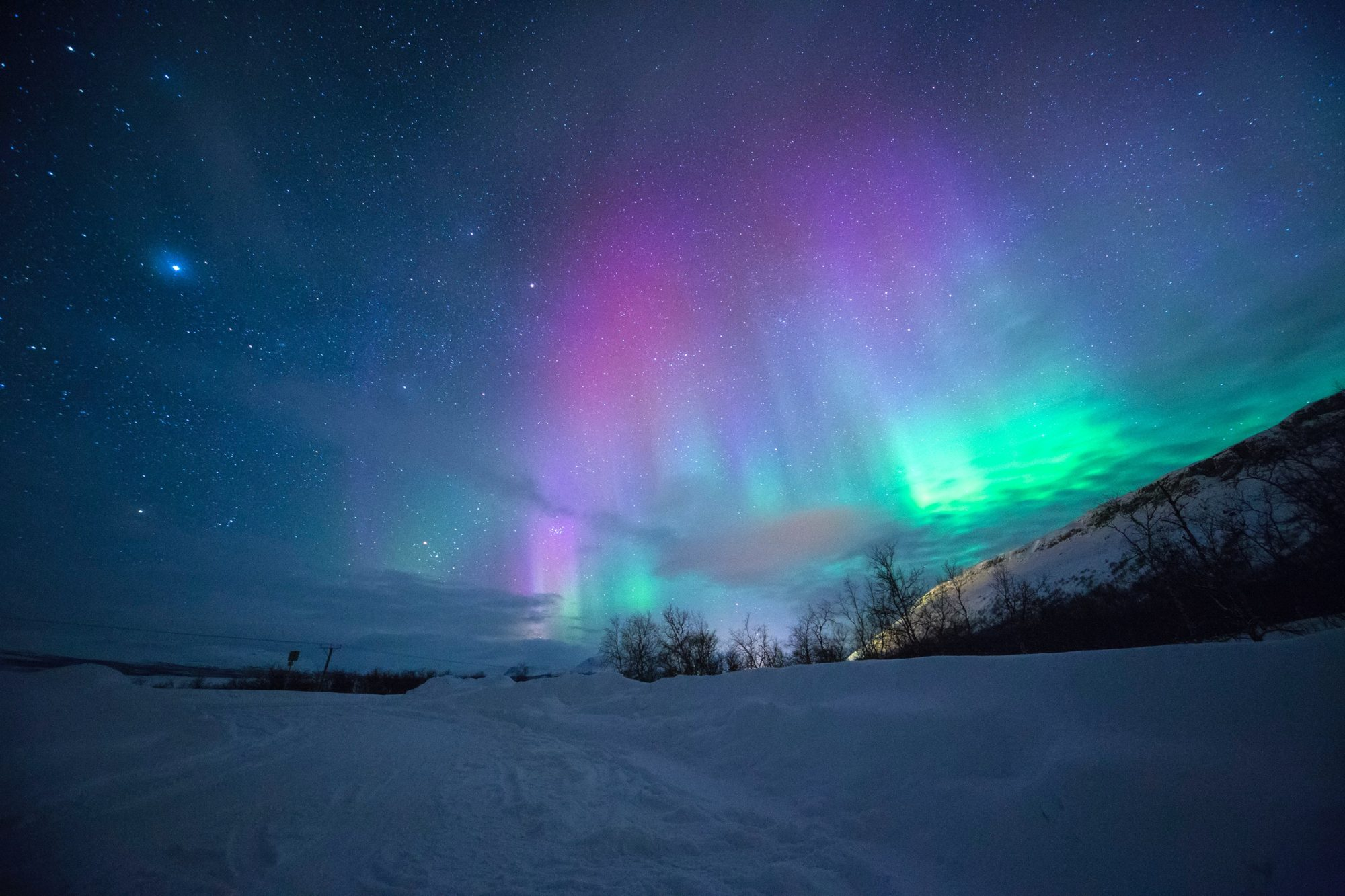 Aurora Borealis near Tromsø, Norway