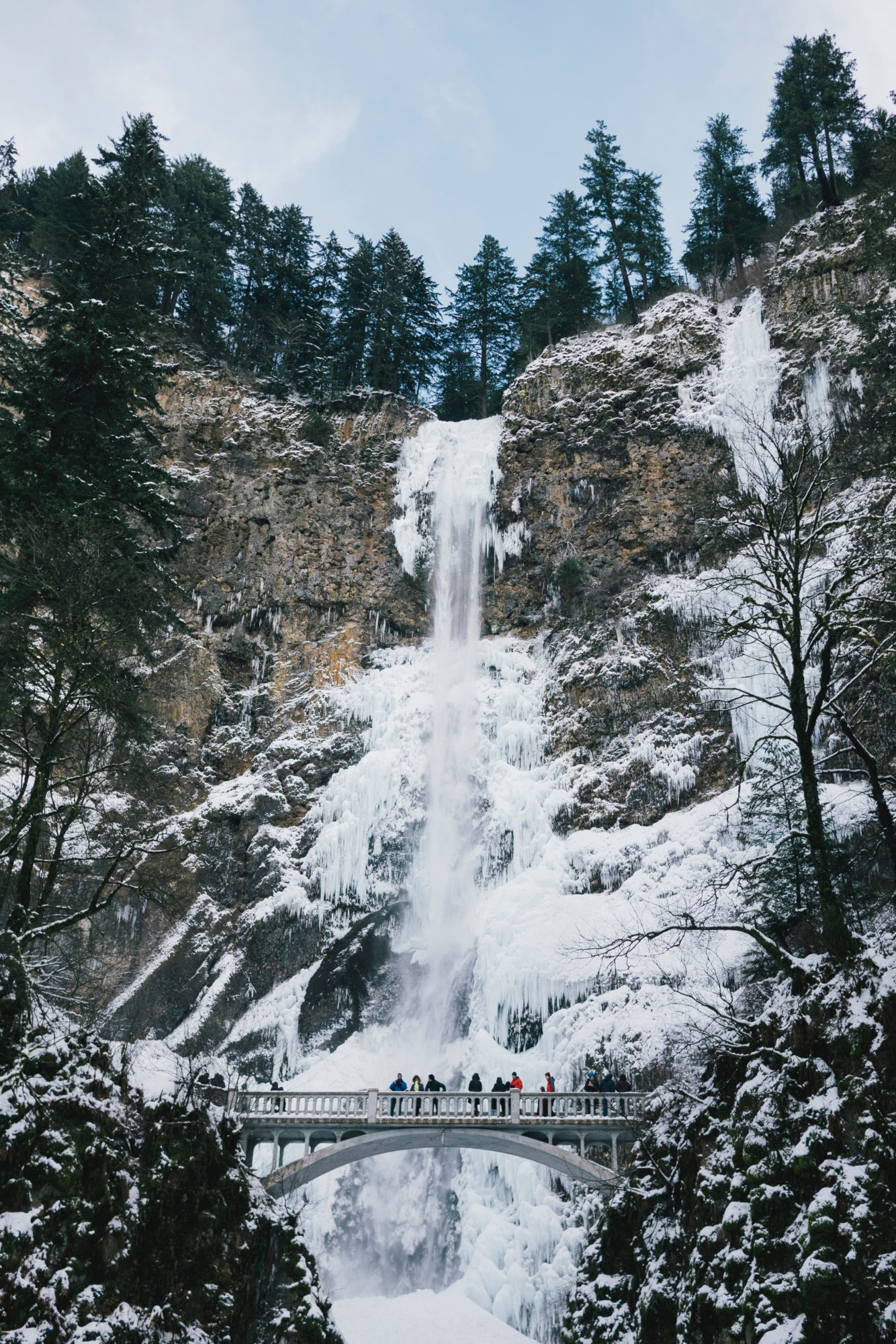 Multnomah Falls, Winter Wonderlands To Visit