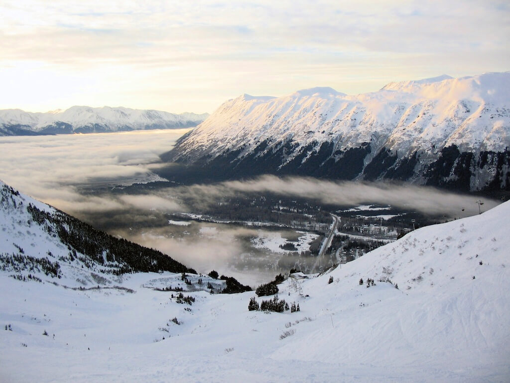 Alyeska, Alaska is one of the best places to ski in the world