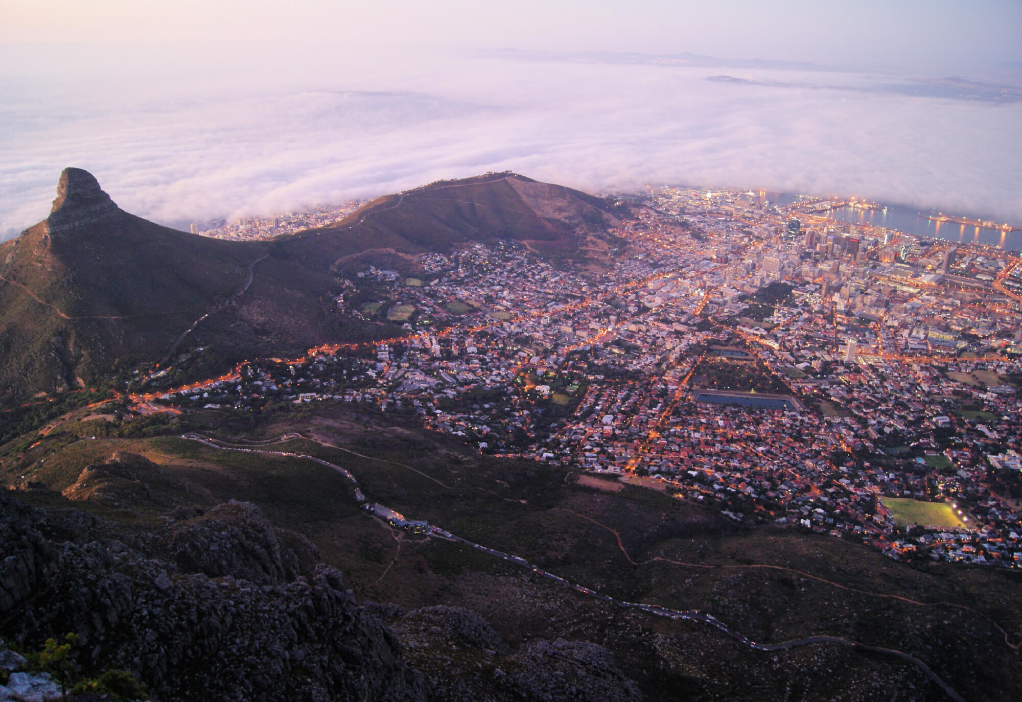 View From Lion's Head, Cape town, South africa