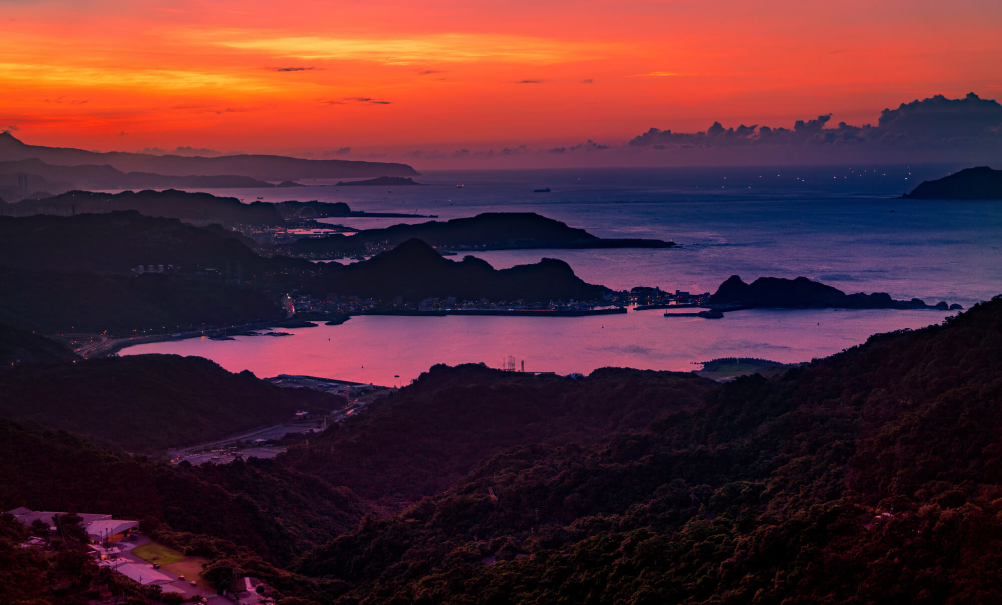 Jiufen's beautiful coastline view=