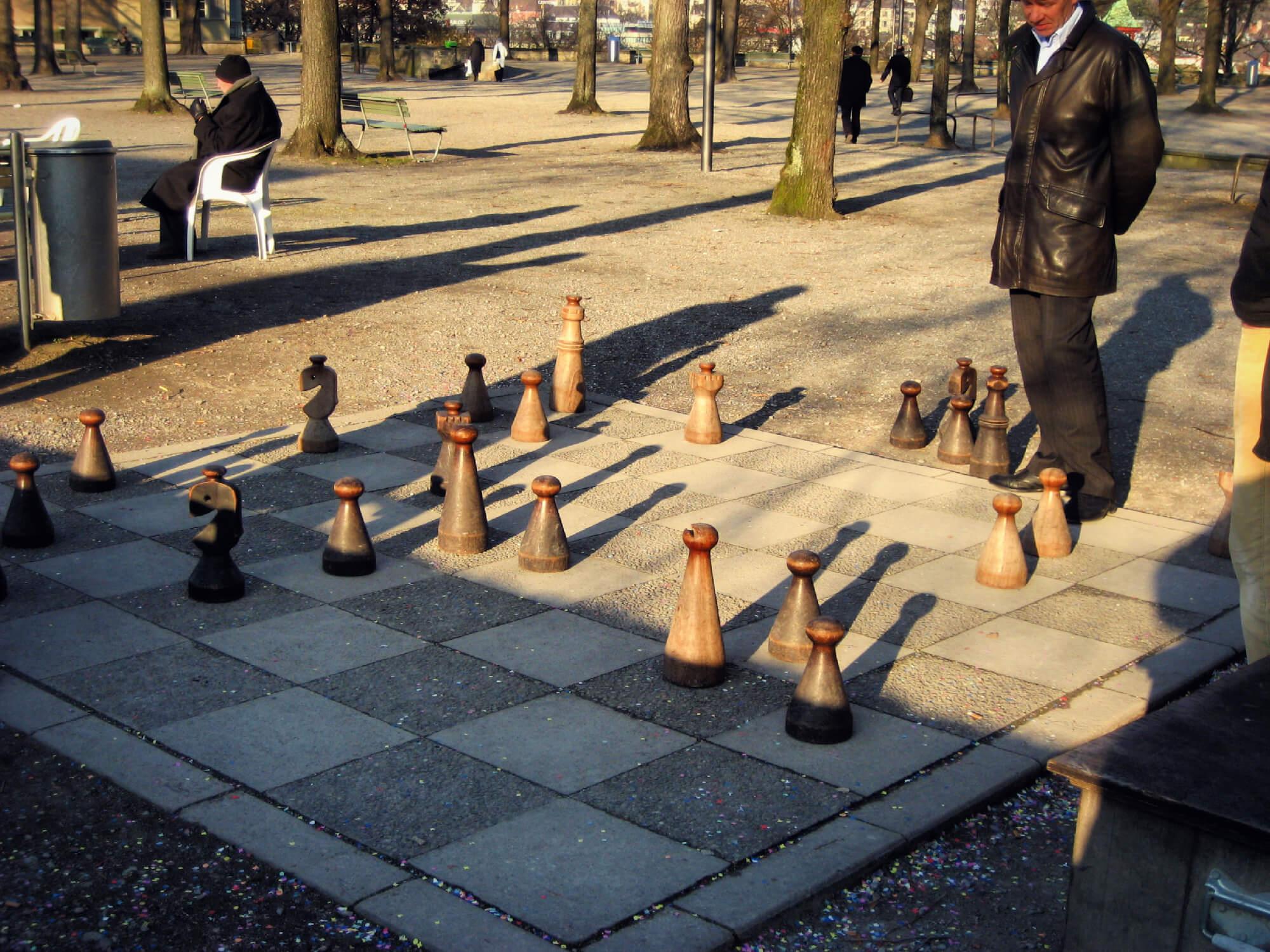 Fancy a game of chess in Lindenhofplatz?